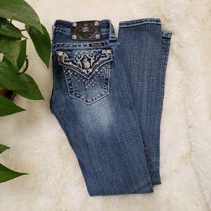 Miss me embellished skinny ankle jeans size 25/0